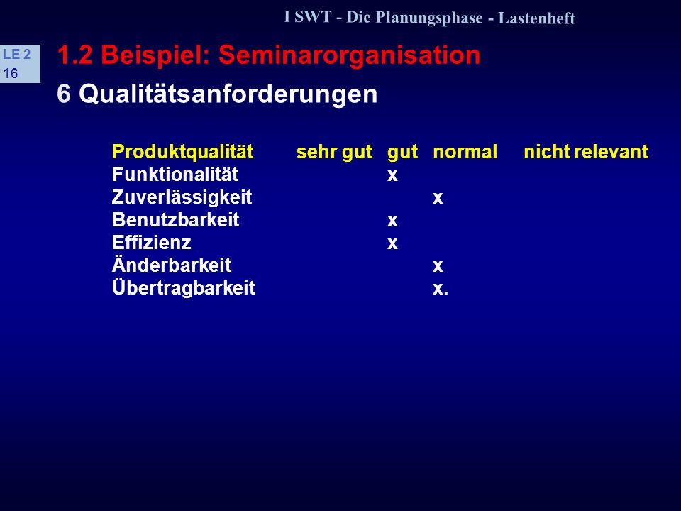 1.2 Beispiel: Seminarorganisation