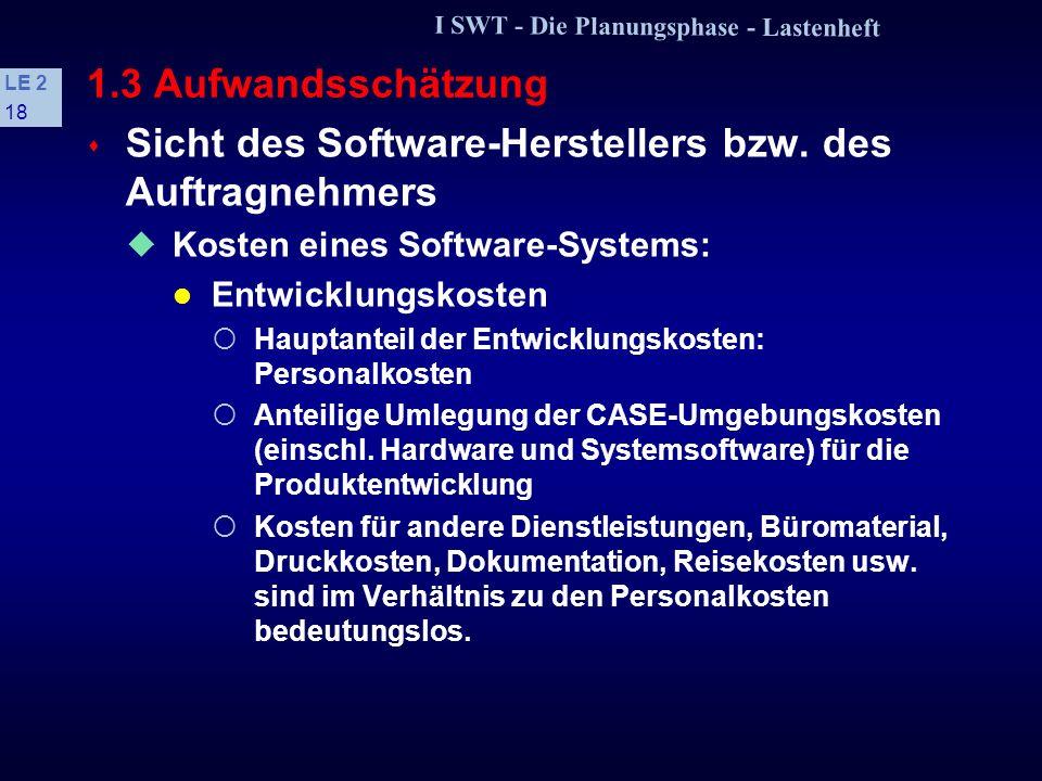 Sicht des Software-Herstellers bzw. des Auftragnehmers