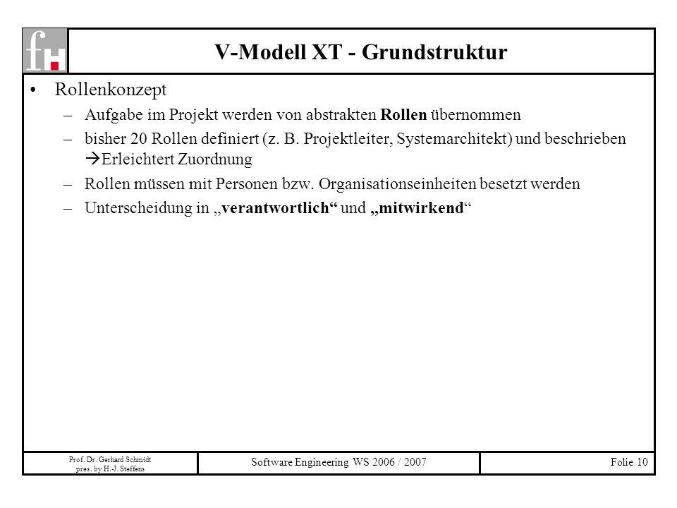 V-Modell XT - Grundstruktur