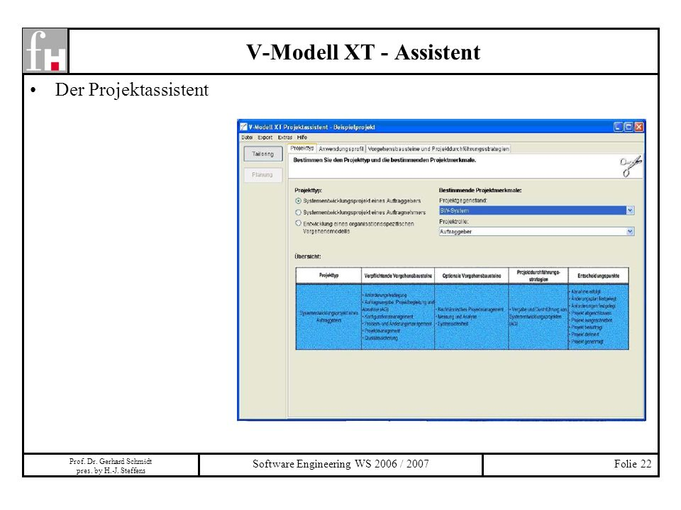 V-Modell XT - Assistent