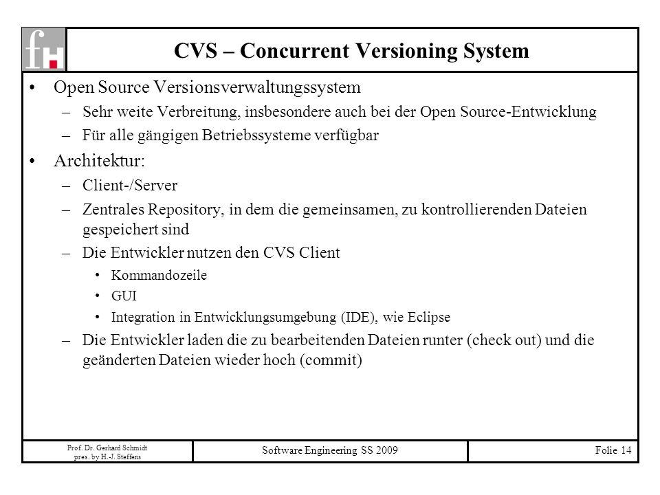 CVS – Concurrent Versioning System