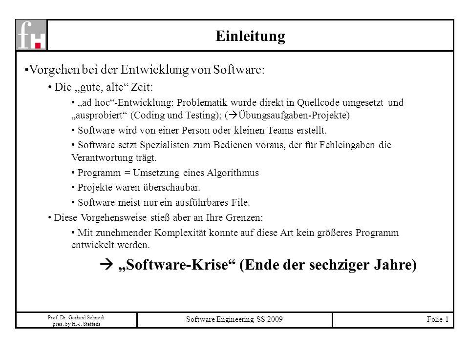" ""Software-Krise (Ende der sechziger Jahre)"
