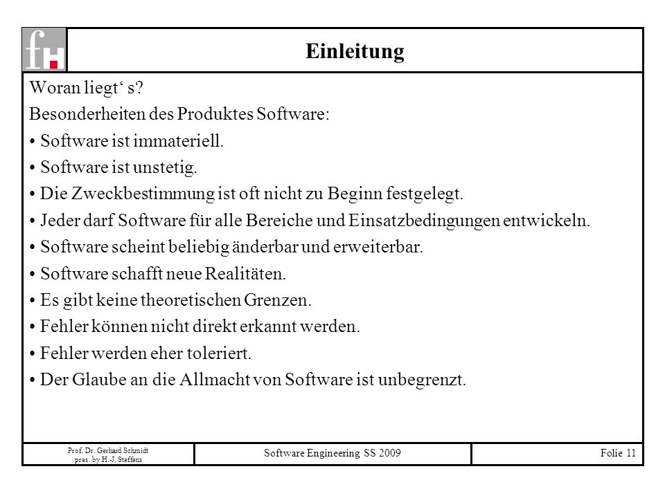 Software Engineering SS 2009