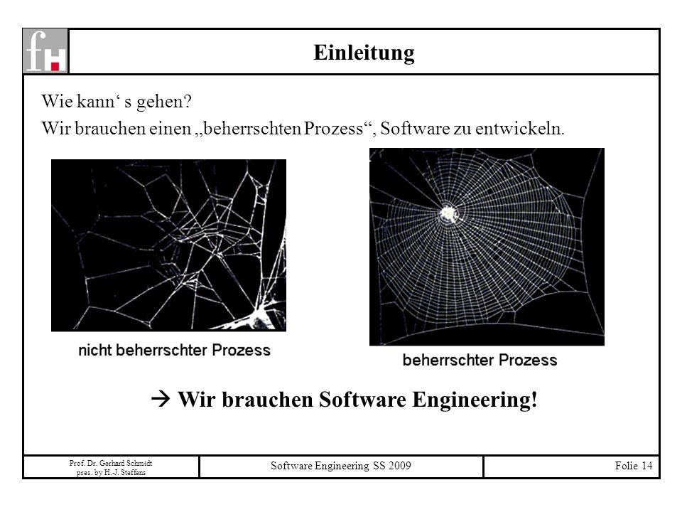  Wir brauchen Software Engineering!