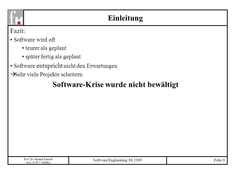 Software-Krise wurde nicht bewältigt