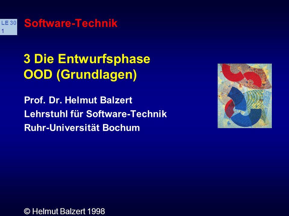 3 Die Entwurfsphase OOD (Grundlagen) Software-Technik