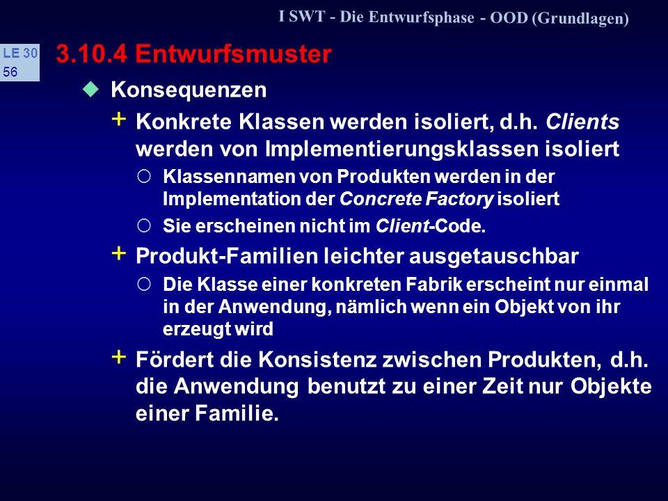 3.10.4 Entwurfsmuster Konsequenzen