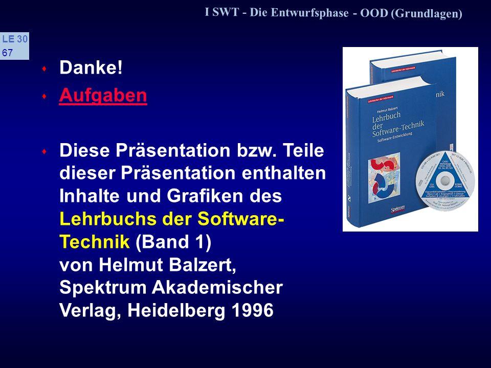 I SWT - Die Entwurfsphase - OOD (Grundlagen)