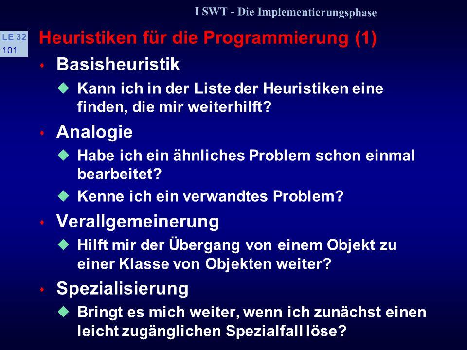 Heuristiken für die Programmierung (1)