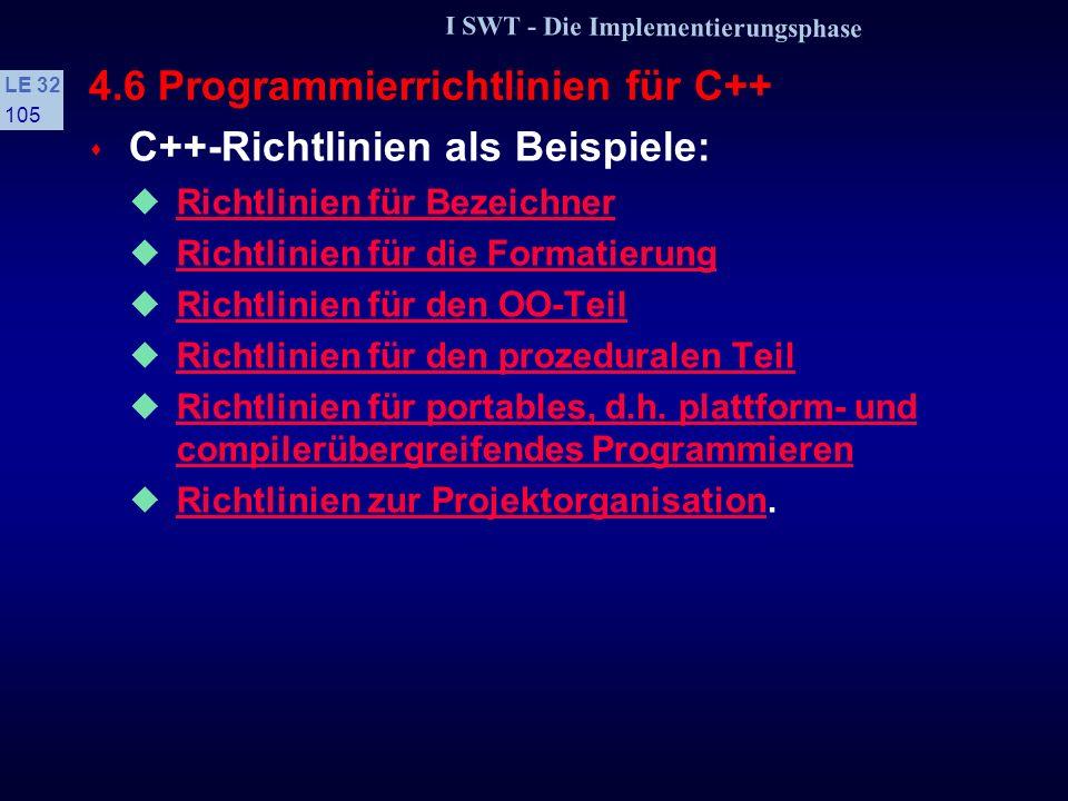 4.6 Programmierrichtlinien für C++