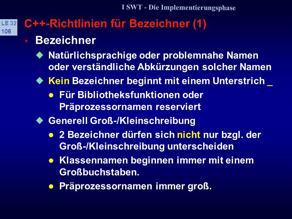 C++-Richtlinien für Bezeichner (1)