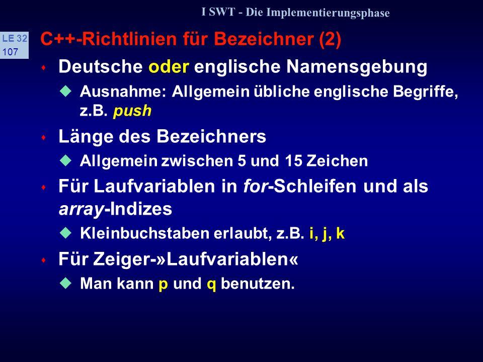 C++-Richtlinien für Bezeichner (2)