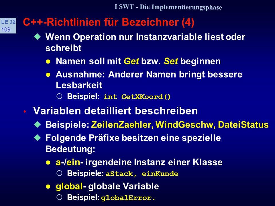 C++-Richtlinien für Bezeichner (4)
