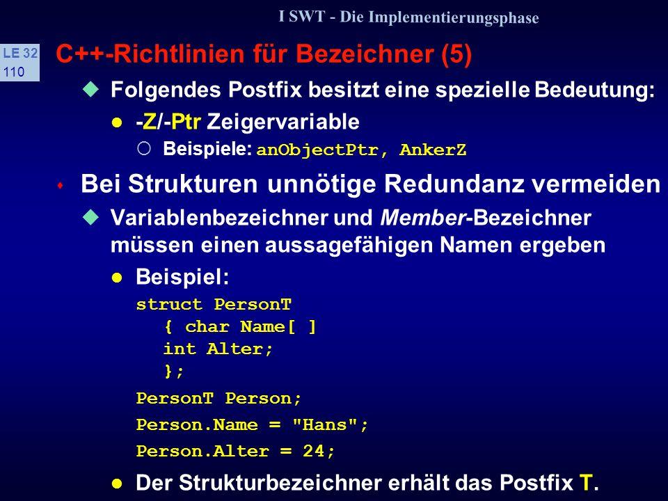 C++-Richtlinien für Bezeichner (5)