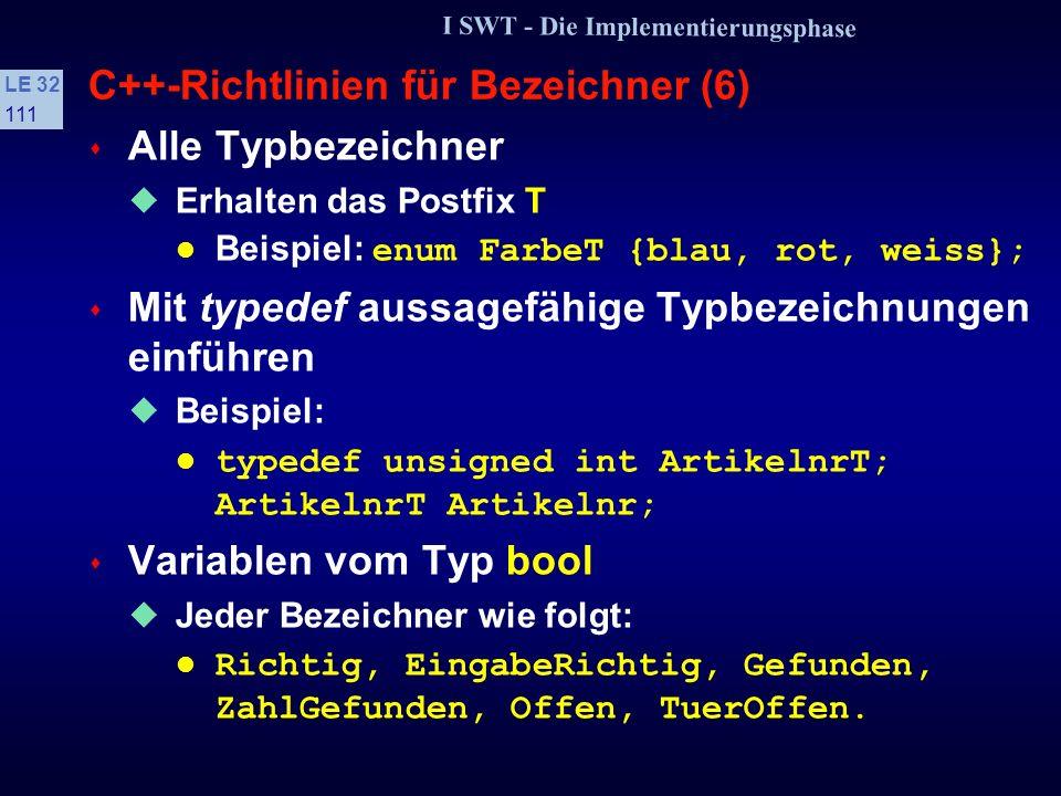 C++-Richtlinien für Bezeichner (6)