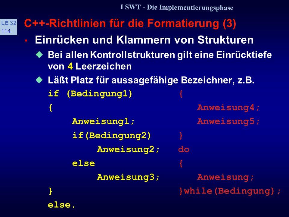 C++-Richtlinien für die Formatierung (3)