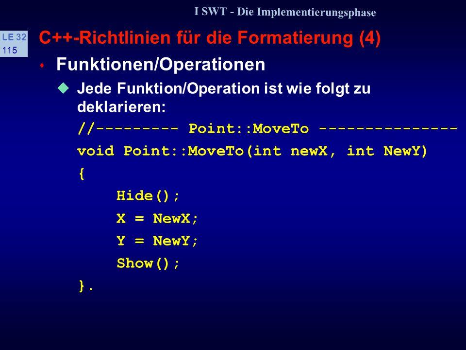 C++-Richtlinien für die Formatierung (4)