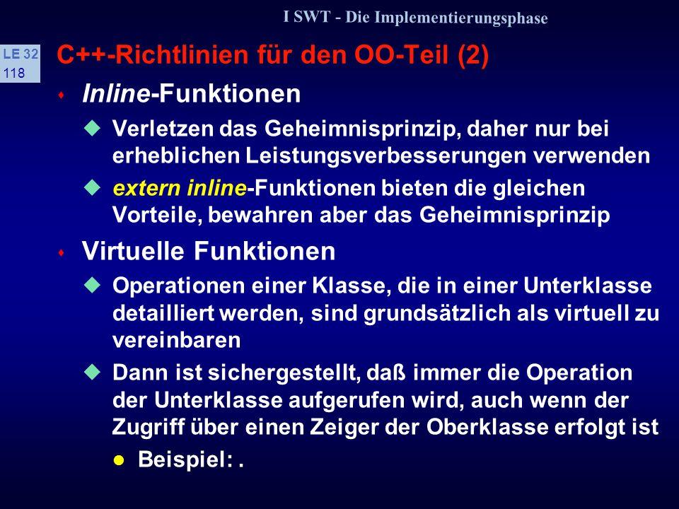 C++-Richtlinien für den OO-Teil (2)