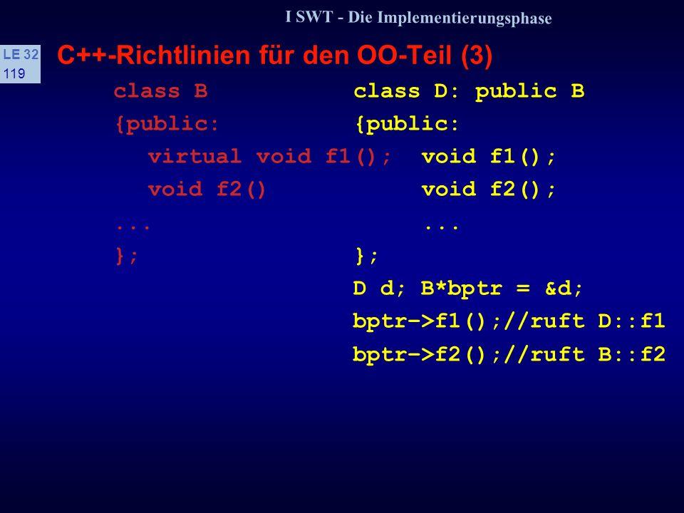 C++-Richtlinien für den OO-Teil (3)