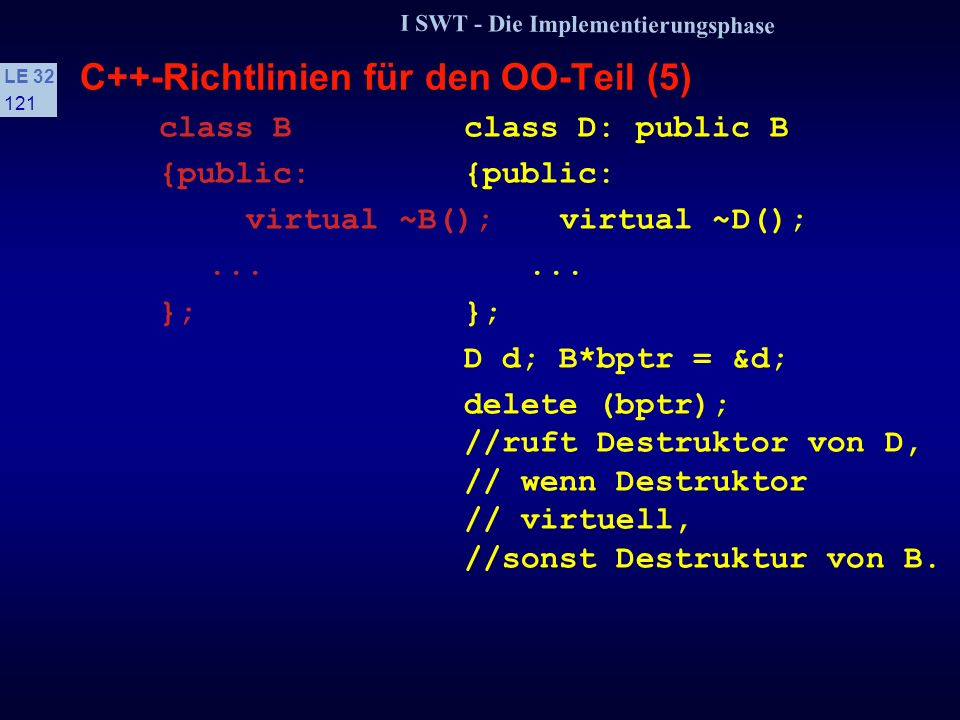 C++-Richtlinien für den OO-Teil (5)