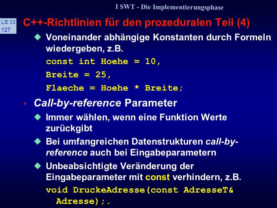 C++-Richtlinien für den prozeduralen Teil (4)