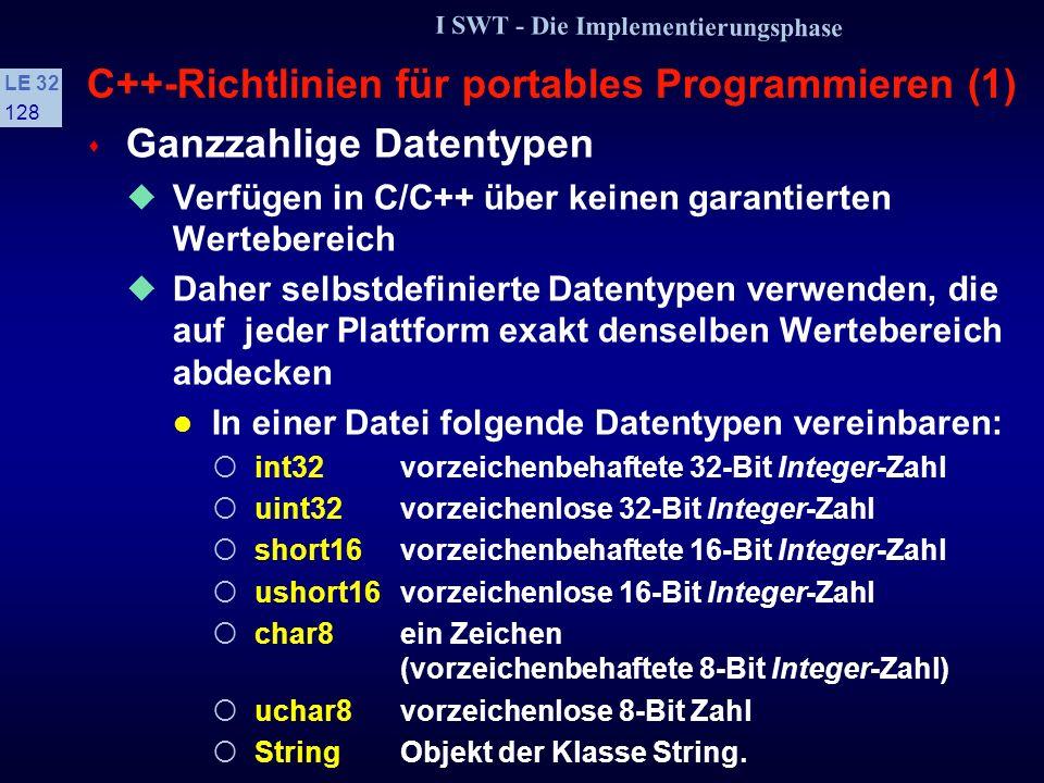C++-Richtlinien für portables Programmieren (1)