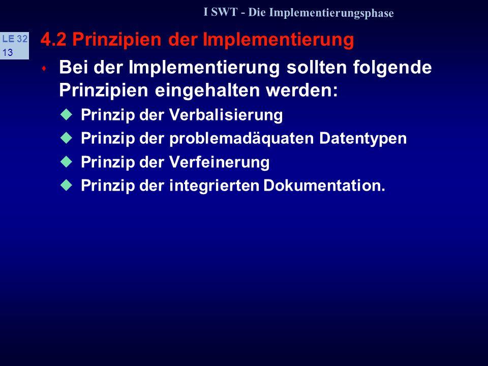 4.2 Prinzipien der Implementierung