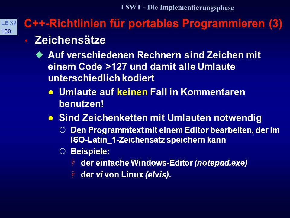 C++-Richtlinien für portables Programmieren (3)