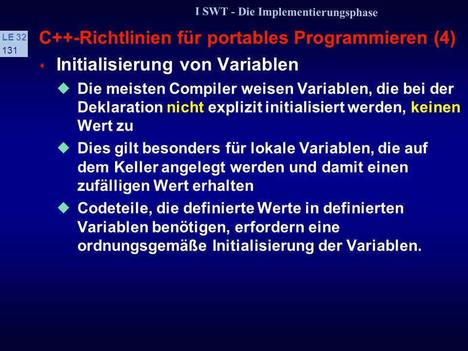 C++-Richtlinien für portables Programmieren (4)