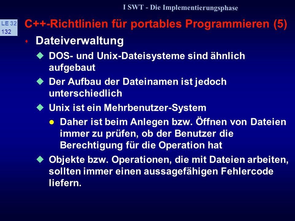 C++-Richtlinien für portables Programmieren (5)