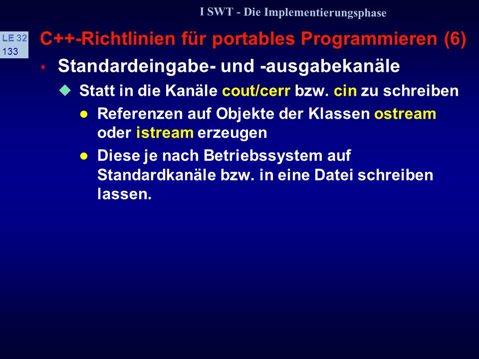 C++-Richtlinien für portables Programmieren (6)