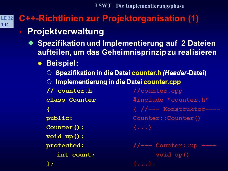 C++-Richtlinien zur Projektorganisation (1)
