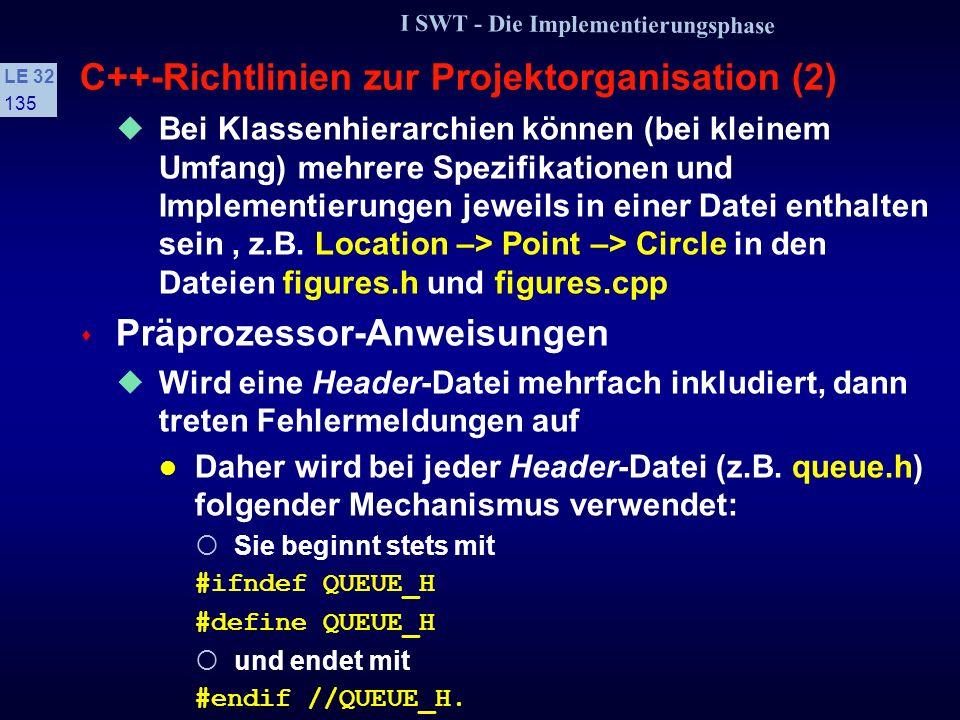 C++-Richtlinien zur Projektorganisation (2)