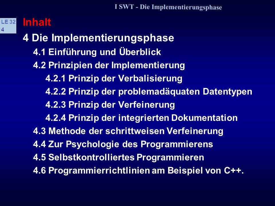 4 Die Implementierungsphase