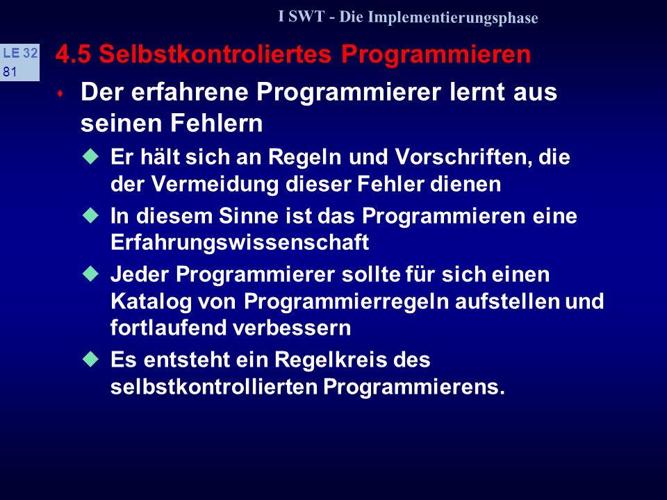 4.5 Selbstkontroliertes Programmieren