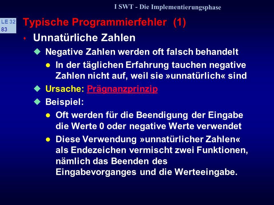 Typische Programmierfehler (1)