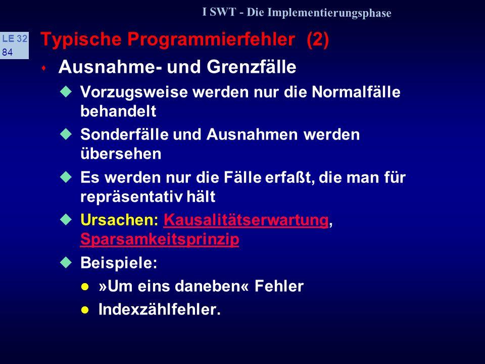 Typische Programmierfehler (2)