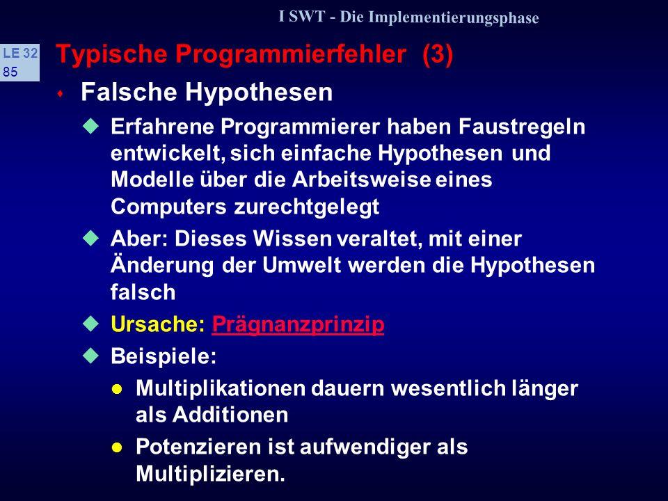 Typische Programmierfehler (3)