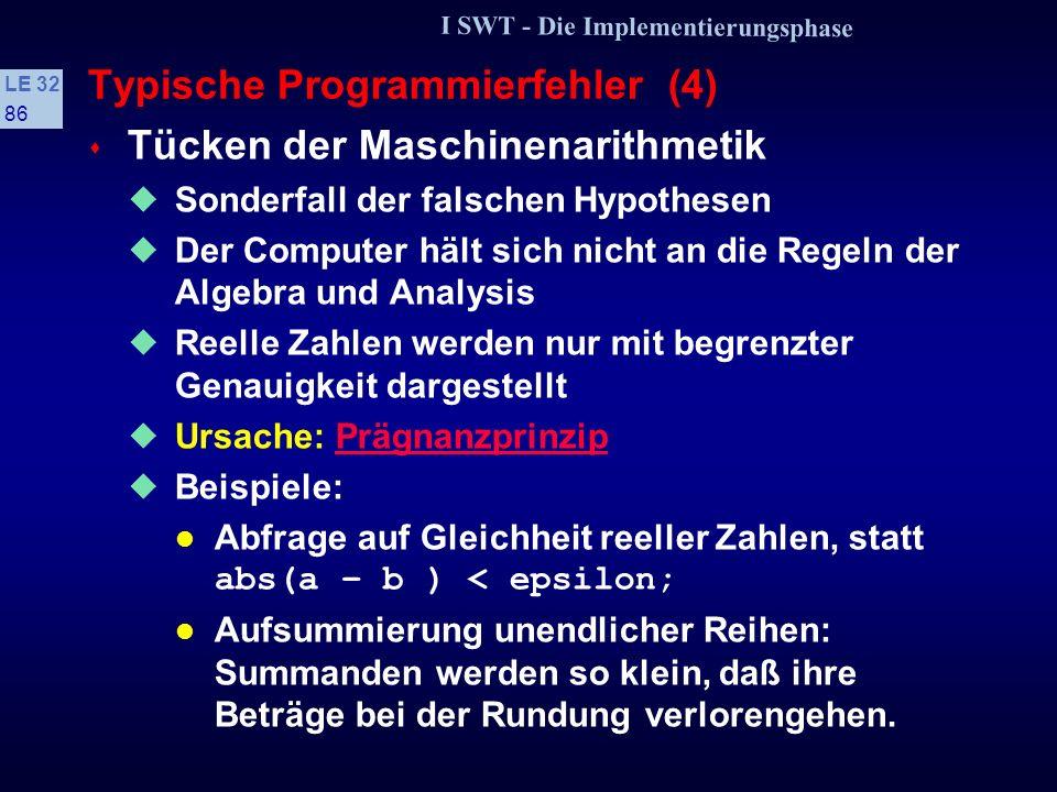 Typische Programmierfehler (4)
