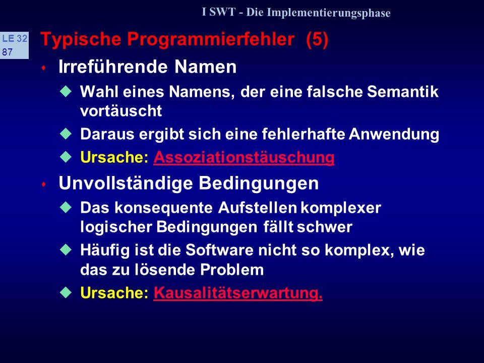Typische Programmierfehler (5)