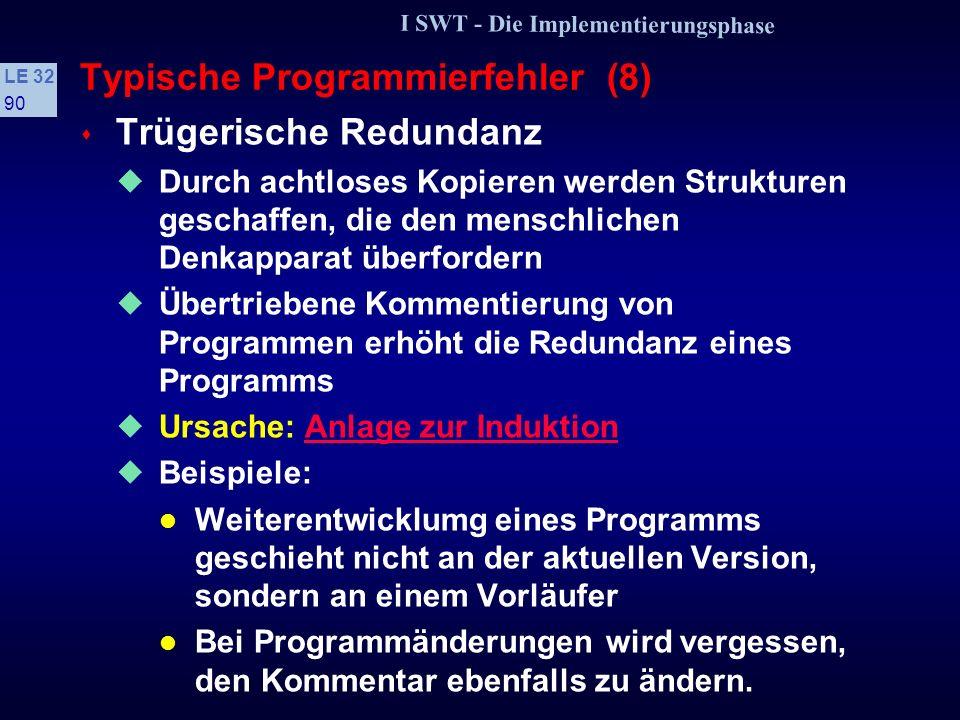 Typische Programmierfehler (8)