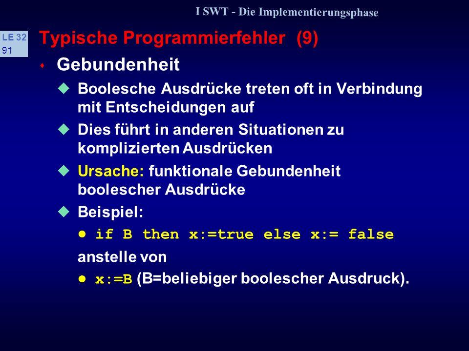 Typische Programmierfehler (9)