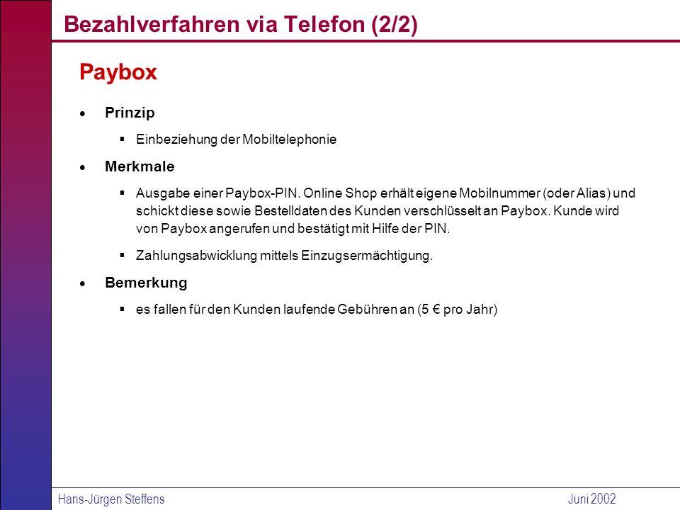 Bezahlverfahren via Telefon (2/2)