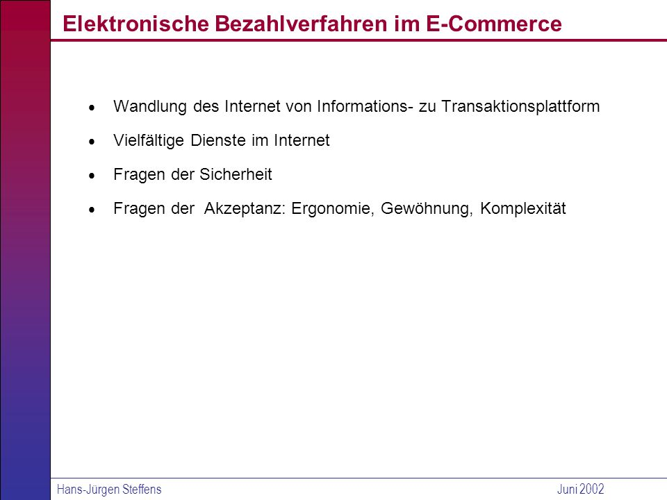 Elektronische Bezahlverfahren im E-Commerce