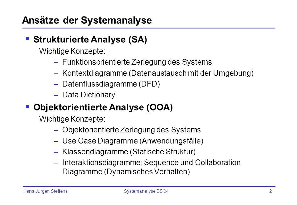 Ansätze der Systemanalyse