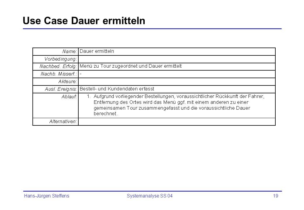 Use Case Dauer ermitteln