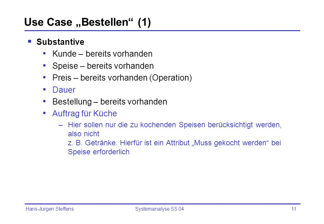 "Use Case ""Bestellen (1)"