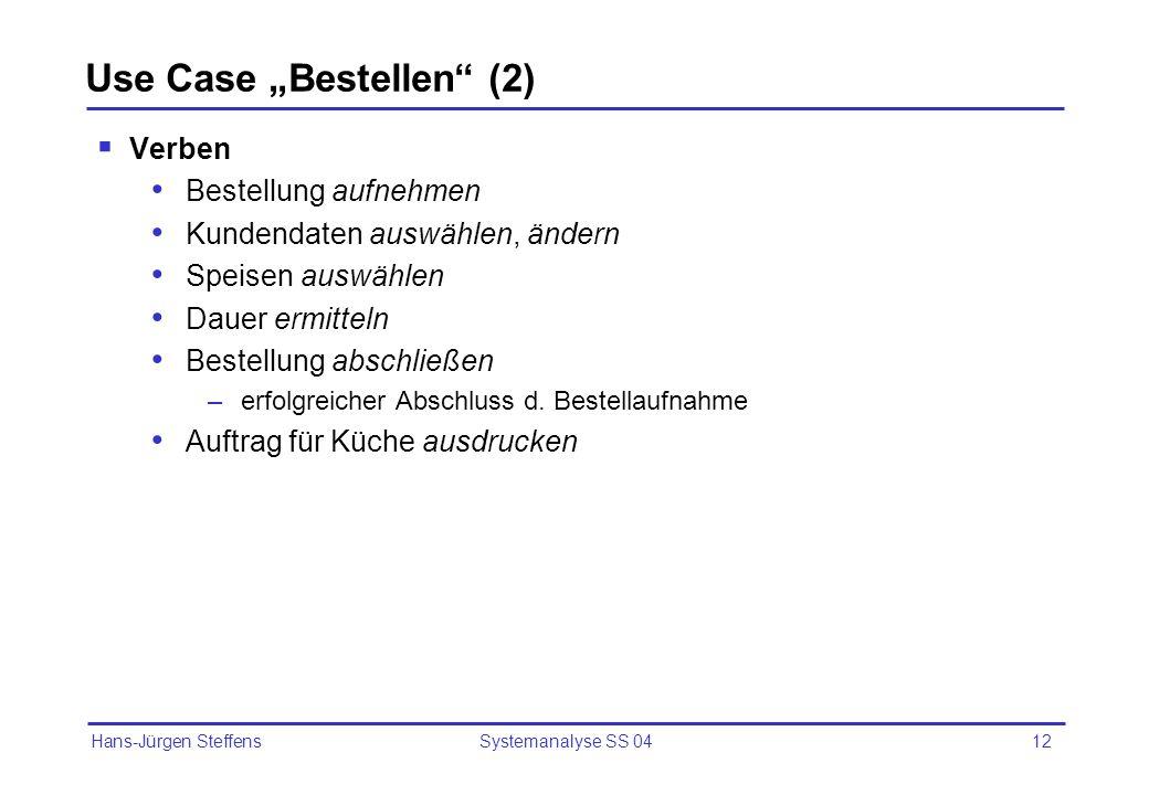"Use Case ""Bestellen (2)"