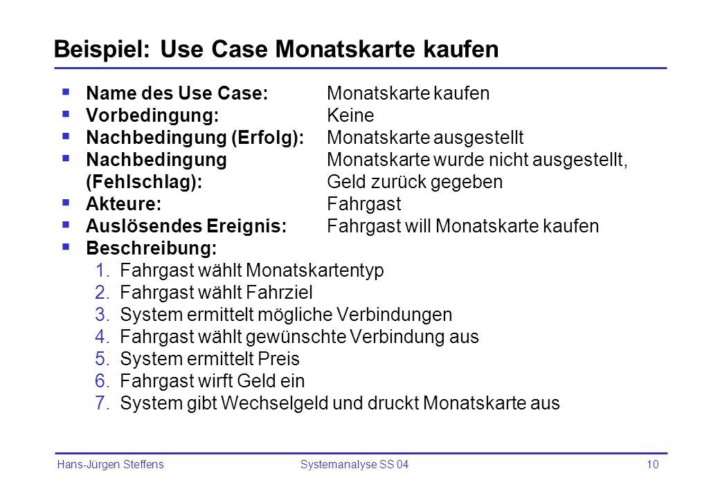Beispiel: Use Case Monatskarte kaufen