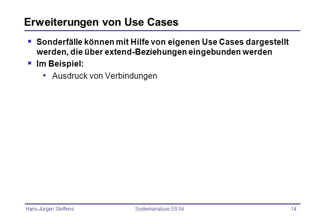 Erweiterungen von Use Cases